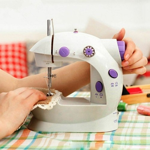 Mini Electric Sewing Machine 2 Speed Portable Desktop Handheld Household with LED Light