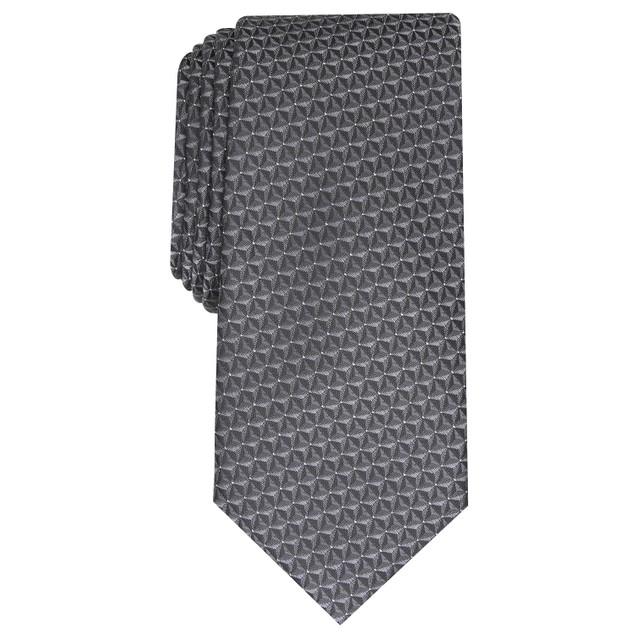Alfani Men's Slim Geo Tie Black Regular