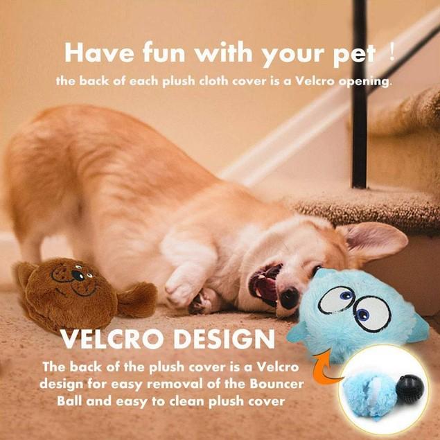 Interactive Plush Giggle Ball Shake Squeak Toys Exercise Electronic Toys