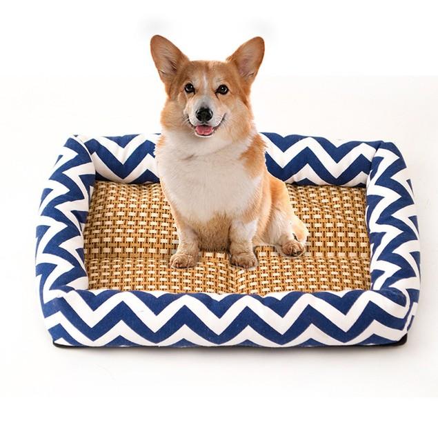 Comfortable Wave Shape Thin Stripes Design Pet Mat Summer Cooling Mat