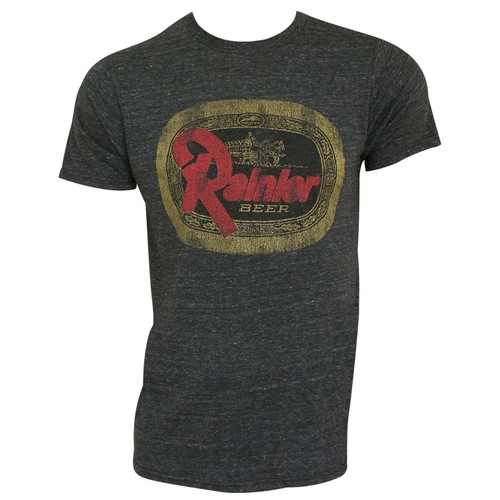 Rainier Beer Logo Retro Brand Charcoal Men's T-Shirt