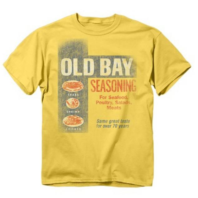 Old Bay Washed Can Art T-Shirt Seafood Seasoning Spice Rub Crab Adult Mens