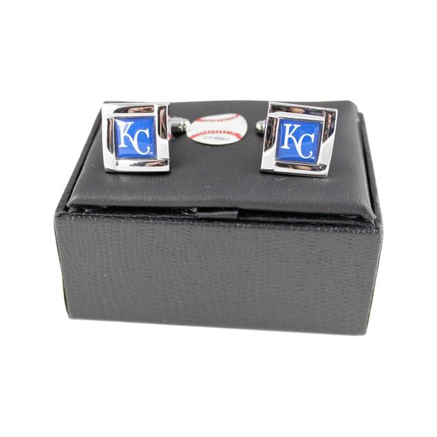 MLB Kansas City Royals Square Cufflinks Gift Box Set