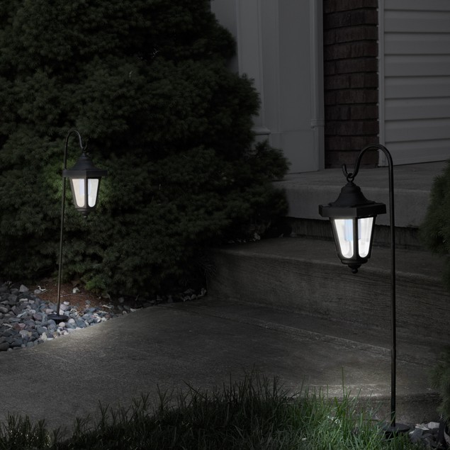 Pure Garden Solar LED Hanging Coach Lanterns - Set of 2