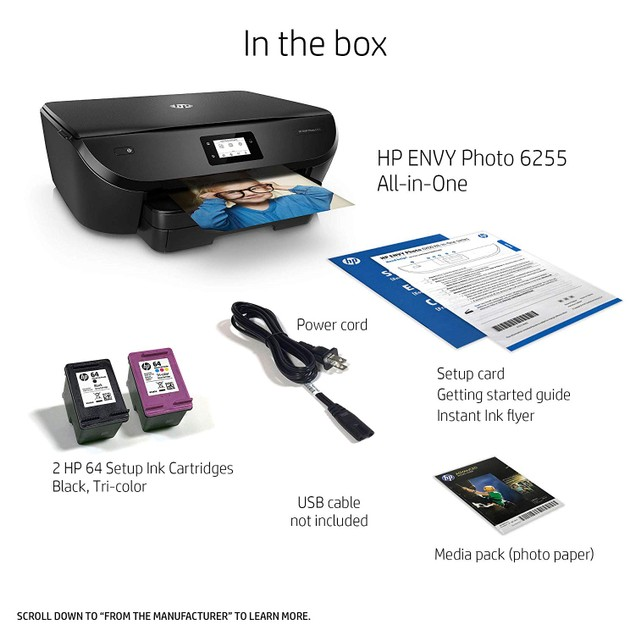 HP ENVY Photo 6255 All-in-One Photo Printer with Wireless Printing (K7G18A)