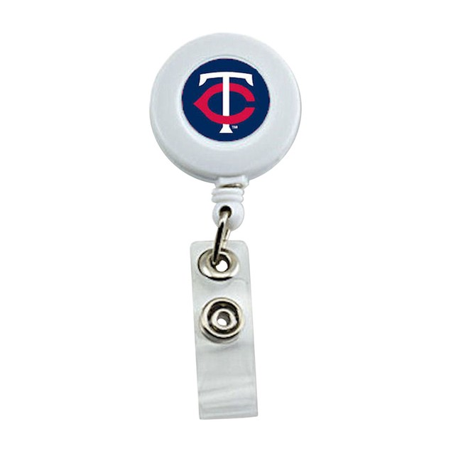 Minnesota Twins Retractable Badge Reel Id Ticket Clip MLB White