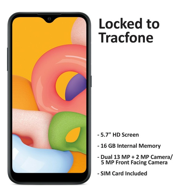 Tracfone Samsung Galaxy A01 Prepaid Phone - Excellent Refurbished