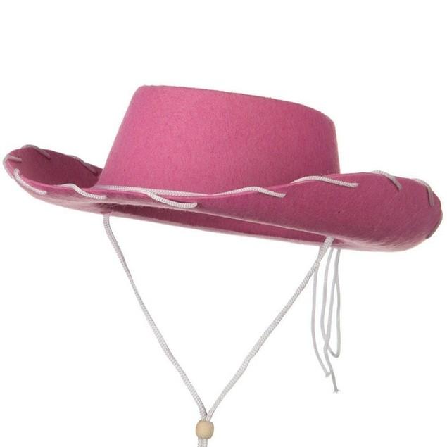 Pink Felt Cowboy Child Hat