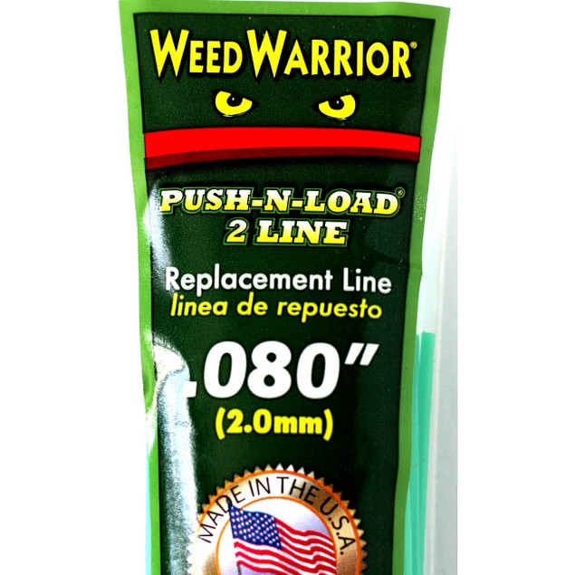 "Weed Warrior Push-N-Load 2 Line Replacement Line 0.080""(2.0mm)"