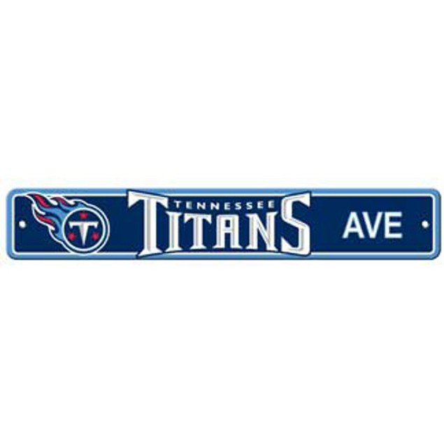 """Tennessee Titans Ave Street Sign 4""""x24"""""""