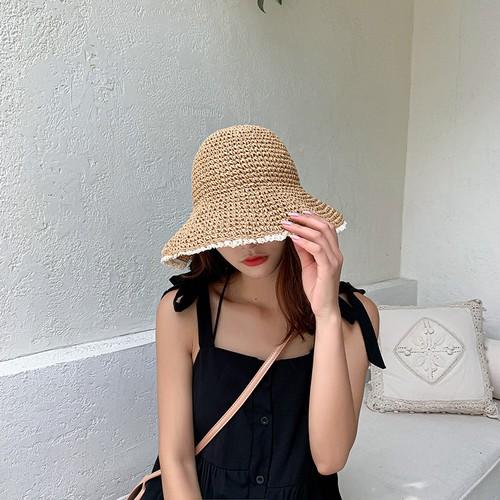 Girls' Fresh Beach Sunshade Hat Foldable