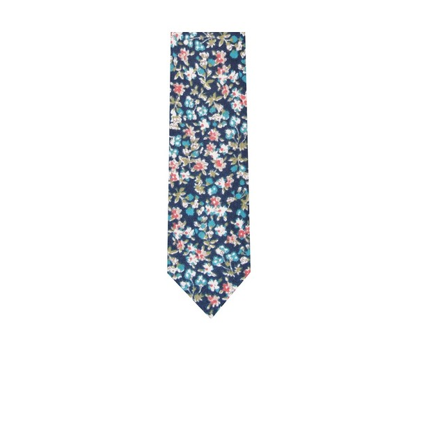 Bar III Men's Ponderosa Skinny Floral Tie Navy Size Regular