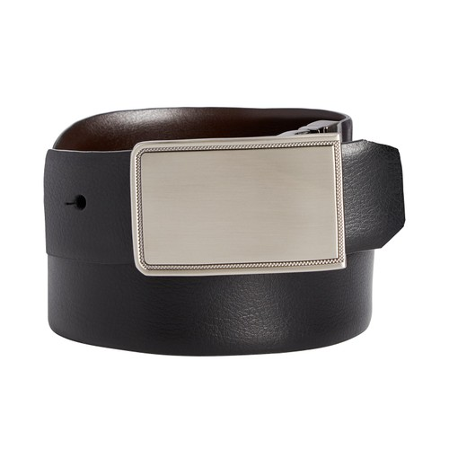 Closeout! Perry Ellis Men's Rachel Plaque Belt Black Size 40