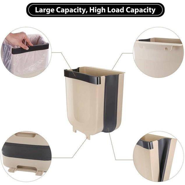 Wall-Mounted Folding Waste Bin
