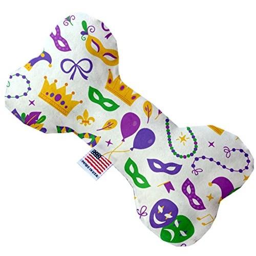 Mardi Gras Masks 6 inch Bone Dog Toy