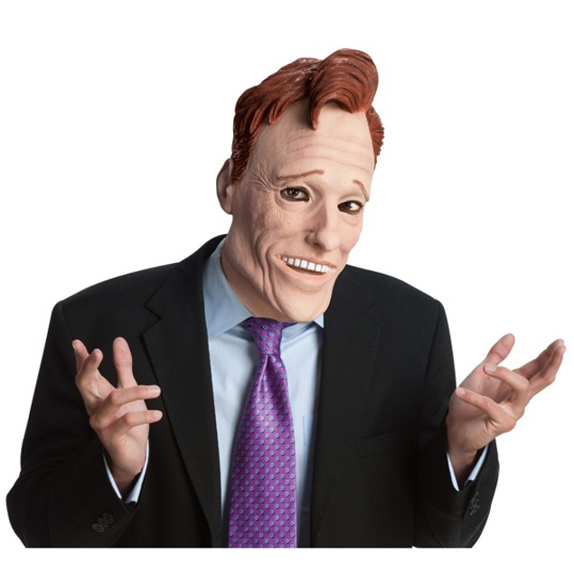 Conan O'Brien Mask Coco Mens Late Night Talk Tonight Show Adult TV Costume