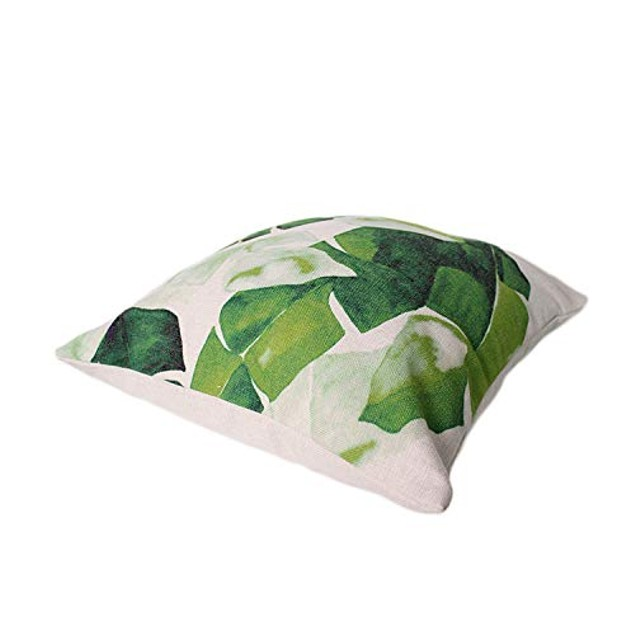 Home Decorative Throw Pillow Covers Tropical Flower Leaves Hypoallergenic