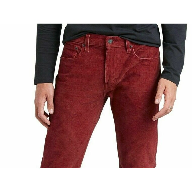Levi's Men's 502 Regular Tapered Corduroy Pants Red Size 31X30
