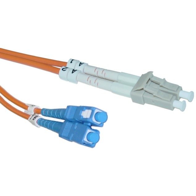 Fiber Optic Cable, LC / SC, Multimode, Duplex, 62.5/125, 3 meter (10 foot)
