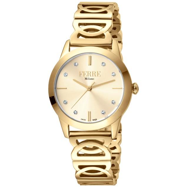 Ferre Milano Women's Classic Gold Dial Watch - FM1L126M0241