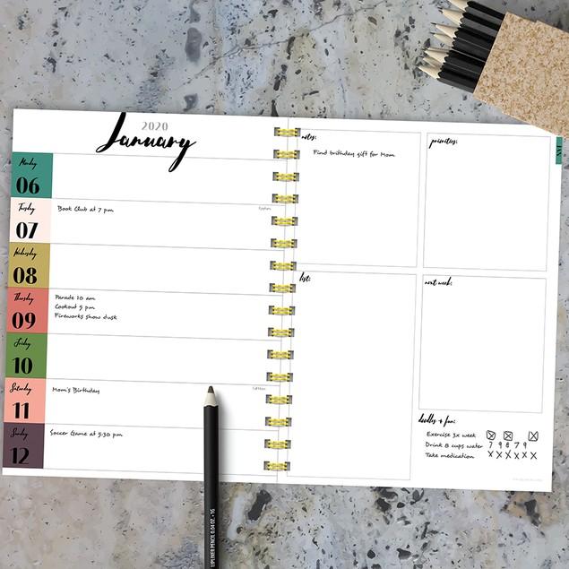 2020 Medium Weekly Monthly Planners-Charming Sophisticate Series