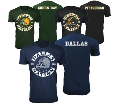 Men's Football Nation T-Shirts Was: $49.99 Now: $14.99.