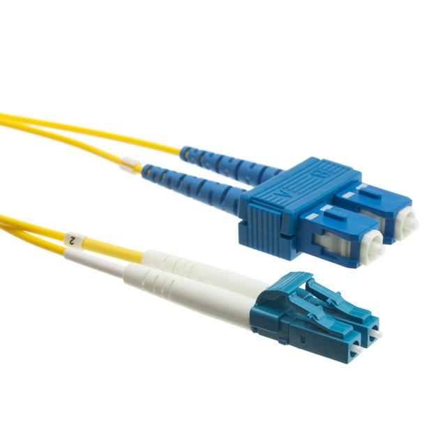 Fiber Optic Cable, LC / SC, Singlemode, Duplex, 9/125, 6 meter (19.7 foot)