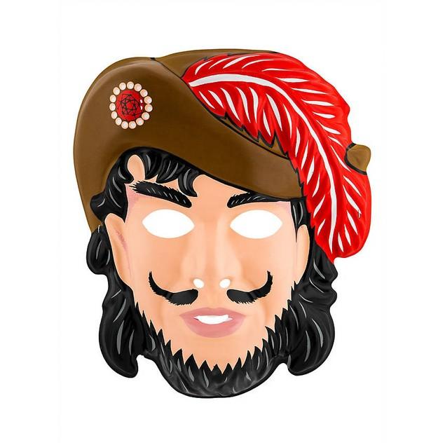 Captain Hook Mask Peter Pan Face Pirate Buccaneer PVC Adult Child Elastic