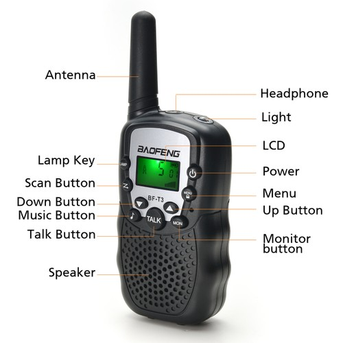 22 CHANNEL WALKIE TALKIES 2 WAY RADIO 3 MILES FRS GMRS TOY FOR KIDS