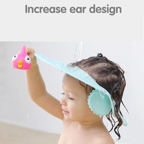 Baby Shampoo Artifact Children'S Ear Protection Shampoo Cap Adjustable