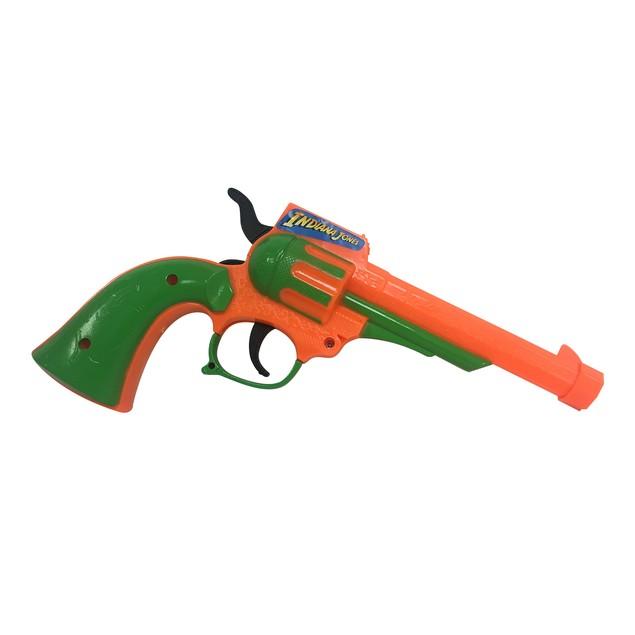 Indiana Jones Orange and Green Plastic Gun
