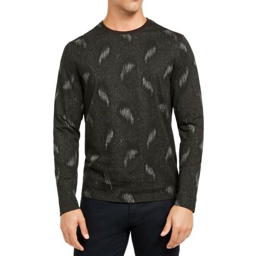 Alfani Men's Paisley Graphic Shirt Black Size Large