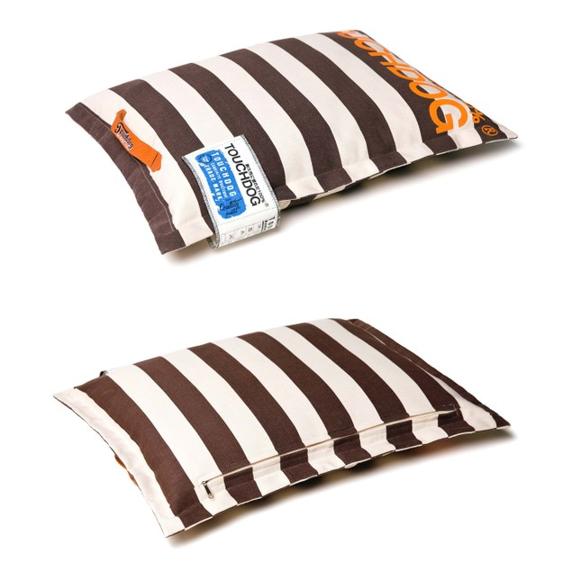 Touchdog Polo-Zippered Pillow Cushioned Collapsible Travel Dog Bed