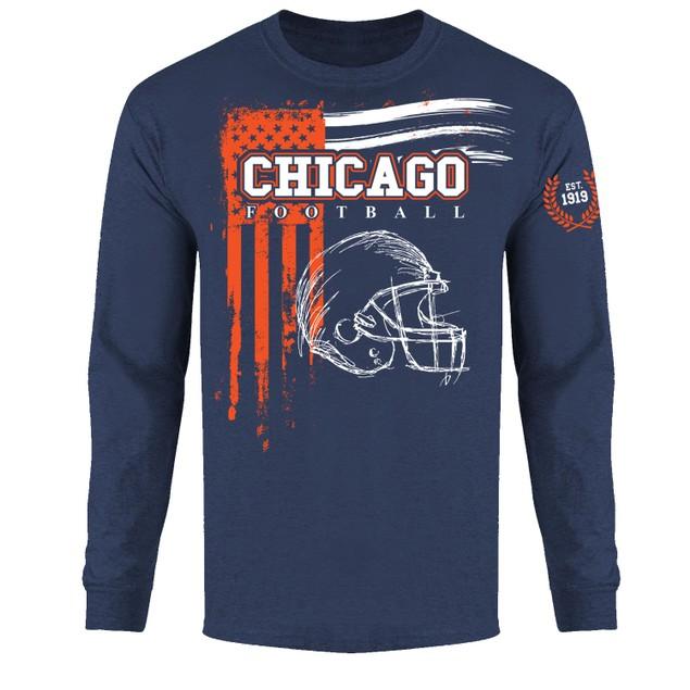 Men's Vintage USA Flag Football Long Sleeve Shirts