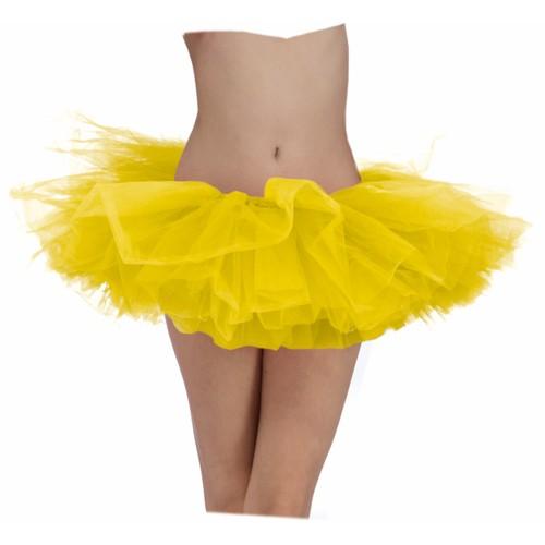 Yellow Adult Tutu Ballerina Ballet Pettiskirt Elastic Costume