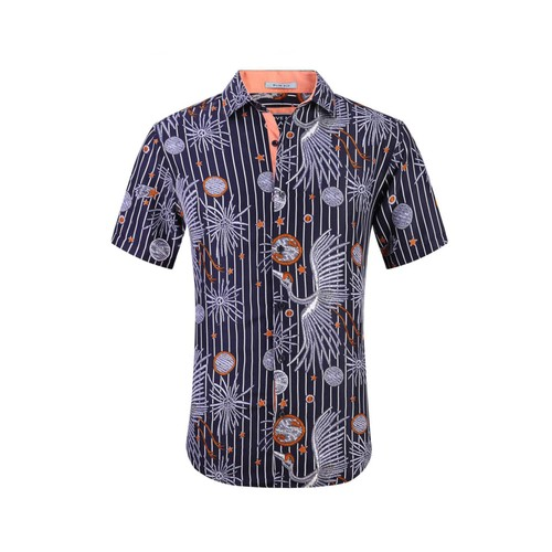Sulso Couture Men's Short Sleeve Performance Solid Linen Look
