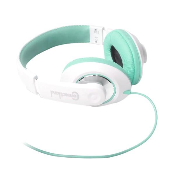 Binaural Design Teal / White Headset With 40mm Speaker