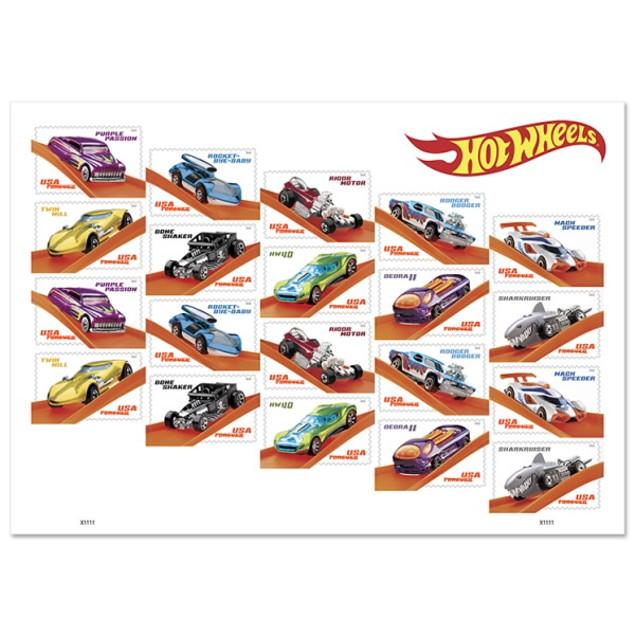 20 pack Hot Wheels Forever Stamp