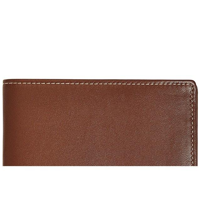 Perry Ellis Men's Leather Wallet Brown Size Regular