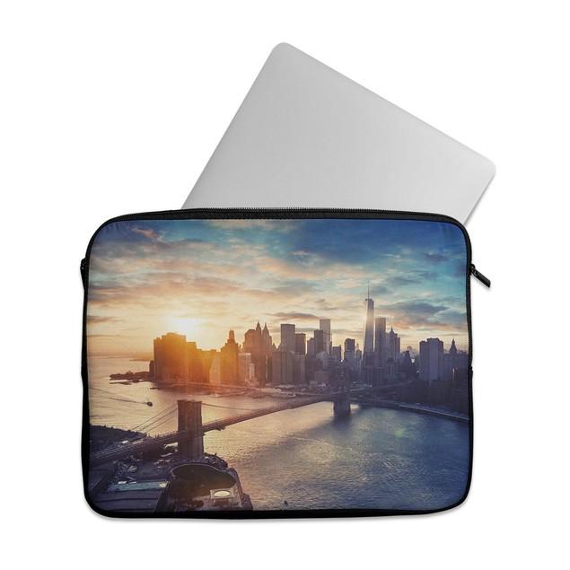 """EmbraceCase 15.6"""" Ink-Fuzed Laptop Sleeve - NYC Sunset Eve"""