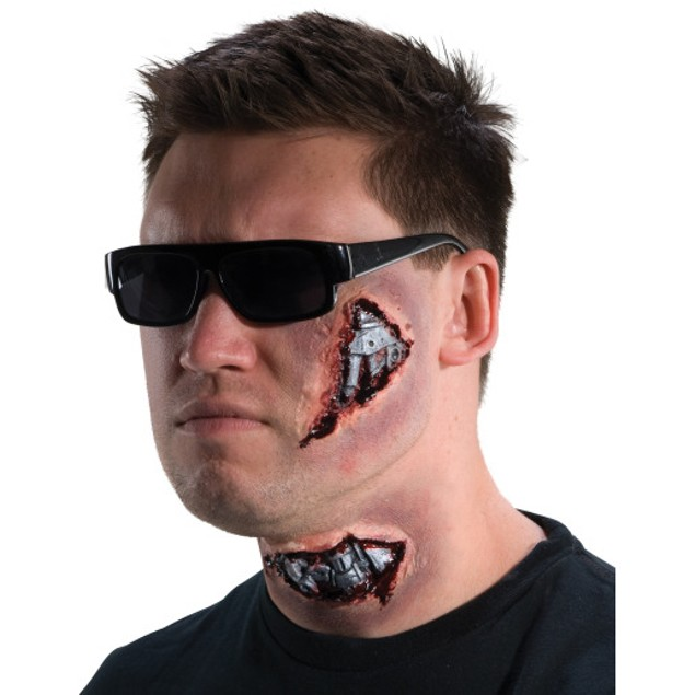 Terminator Latex Makeup Kit I'll Be Back Cyborg Mask Wound Face Prosthetic
