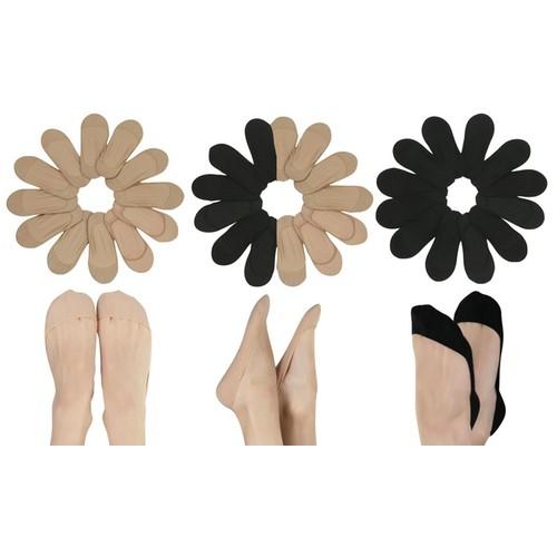 (6-Pairs) ToBeInStyle Women's Laser Cut Foot Cover Socks