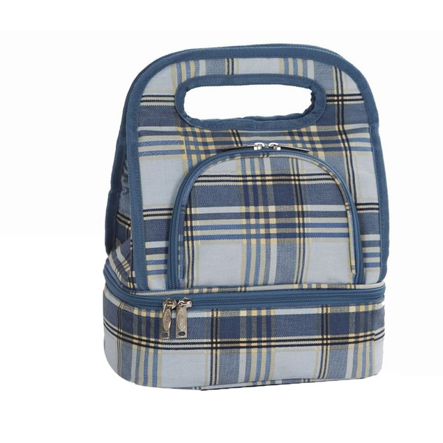 Savoy Lunch Bag Varsity Plaid