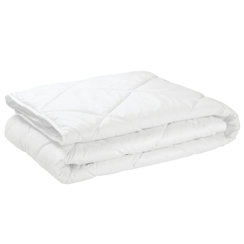 mDesign Hypoallergenic Quilted Mattress Pad Cover - Optic White