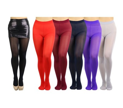 6-Pack ToBeInStyle Women's Basic or Vibrant Semi Opaque Pantyhose Was: $47.99 Now: $23.99.