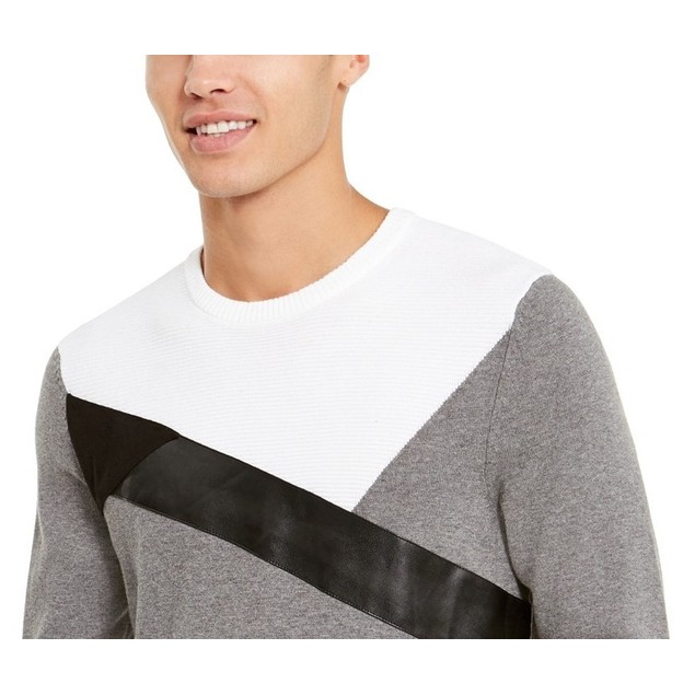 INC International Concepts Men's Colorblocked Sweater Gray Size XX-Large