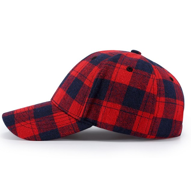 Men Women Baseball  Plaid Cap Snapback Hat Hip-Hop Adjustable