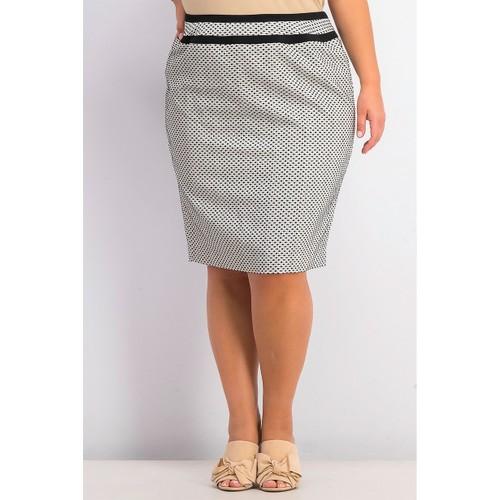 Calvin Klein Women's Plus Size Piped-Trim Skirt Bcr Size 24W