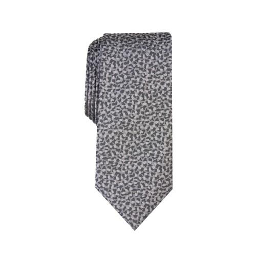 INC International Concepts  Men's Skinny Abstract Tie  Gray Size Regular