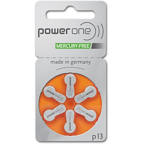 Power One Size 13 PR48 MF Zinc Air Hearing Aid Batteries (60 pack)